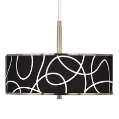 "Abstract Giclee Glow 16"" Wide Pendant Light"