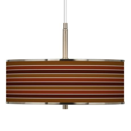 "Tones Of Sienna Giclee Glow 16"" Wide Pendant Light"