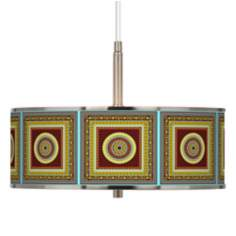 "Stacy Garcia Tiber Medallion Garnet 16"" Wide Pendant Light"
