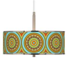 "Stacy Garcia Arno Mosaic Daybreak 16"" Wide Pendant Light"