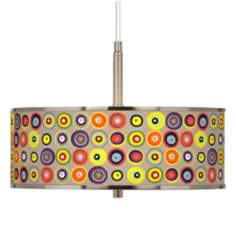 "Marbles in the Park Giclee Glow 16"" Wide Pendant Light"