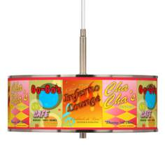 "Retro Diner Giclee Glow 16"" Wide Pendant Light"