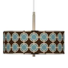 "Stacy Garcia Porthole Giclee Glow 16"" Wide Pendant Light"