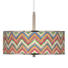"Canyon Waves Giclee Glow 16"" Wide Pendant Light"
