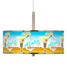"Aloha Lounge Giclee Glow 16"" Wide Pendant Light"