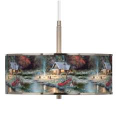 "Thomas Kinkade The End Of A Perfect Day II 16"" Pendant"