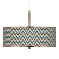 "Zig Zag Giclee Glow 16"" Wide Pendant Light"