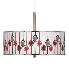 "Shutter Giclee Glow 16"" Wide Pendant Light"