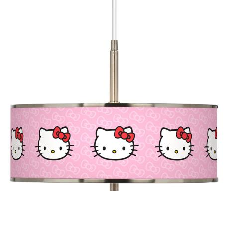 "Hello Kitty Classic Giclee Glow 16"" Wide Pendant Light"