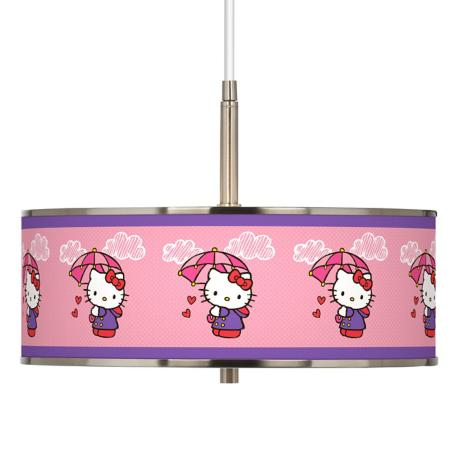 "Hello Kitty Rain or Shine Giclee Glow 16"" Wide Pendant Light"