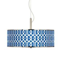 "Chain Reaction Giclee Glow 20"" Wide Pendant Light"