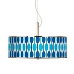 "Jet Set Giclee Glow 20"" Wide Pendant Light"