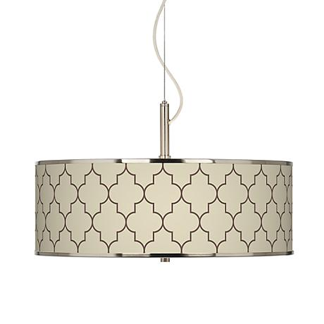"Tangier Taupe Giclee Glow 20"" Wide Pendant Light"