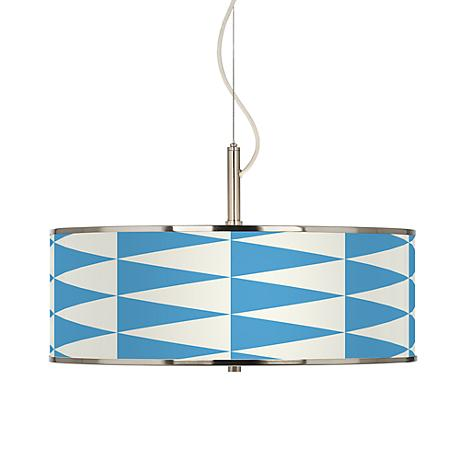 "Coastal Pennant Giclee Glow 20"" Wide Pendant Light"