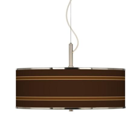 "Saratoga Stripe Giclee Glow 20"" Wide Pendant Light"