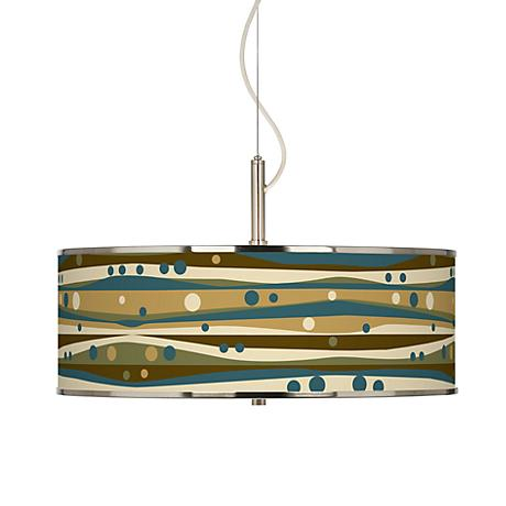 "Dots and Waves Giclee Glow 20"" Wide Pendant Light"
