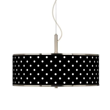 "Mini Dots Black Giclee Glow 20"" Wide Pendant Light"