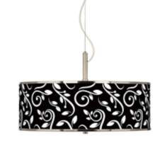 "Swirling Vines Giclee Glow 20"" Wide Pendant Light"