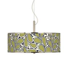 "Stacy Garcia Rain Metal Giclee Glow 20"" Wide Pendant Light"