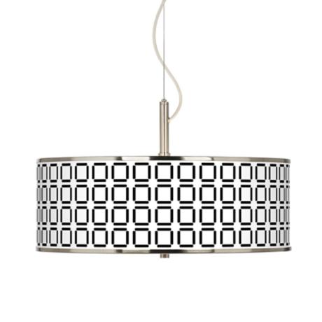"Open Grid Giclee Glow 20"" Wide Pendant Light"