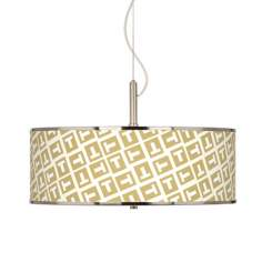"Tee Tumble Giclee Glow 20"" Wide Pendant Light"