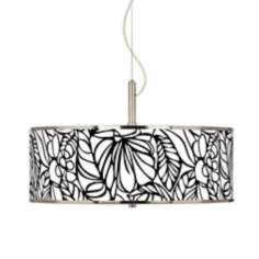 "Jungle Moon Giclee Glow 20"" Wide Pendant Light"