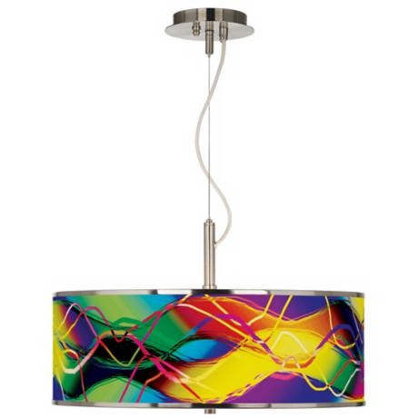 "Colors In Motion (Light) Giclee Glow 20"" Wide Pendant Light"