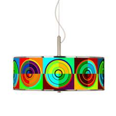 "Circle Parade Giclee Glow 20"" Wide Pendant Light"