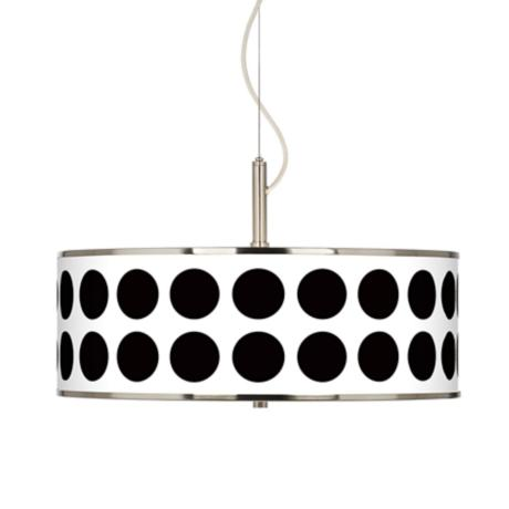 "Black Orbs Giclee Glow 20"" Wide Pendant Light"