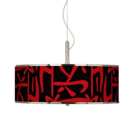 "Asian Flair Giclee Glow 20"" Wide Pendant Light"