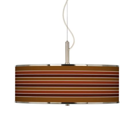 "Tones Of Sienna Giclee Glow 20"" Wide Pendant Light"