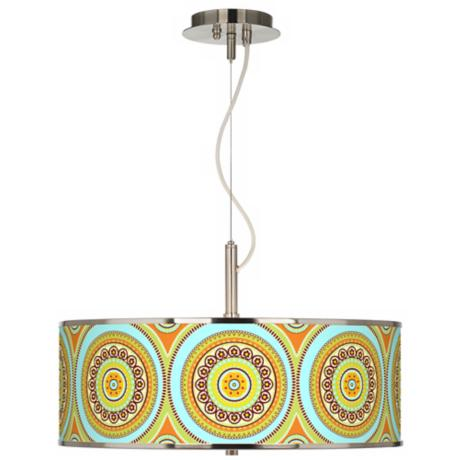 "Stacy Garcia Arno Mosaic Daybreak 20"" Pendant Light"