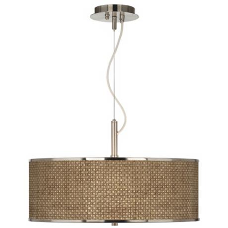 "Interweave Giclee Glow 20"" Wide Pendant Light"