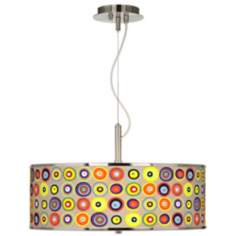 "Marbles in the Park Giclee Glow 20"" Wide Pendant Light"
