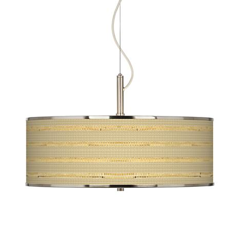 Woven Reed Giclee Glow 20 Quot Wide Pendant Light T6343