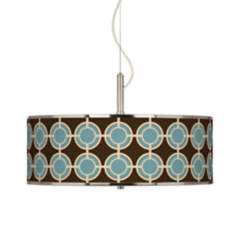 "Stacy Garcia Porthole Giclee Glow 20"" Wide Pendant Light"