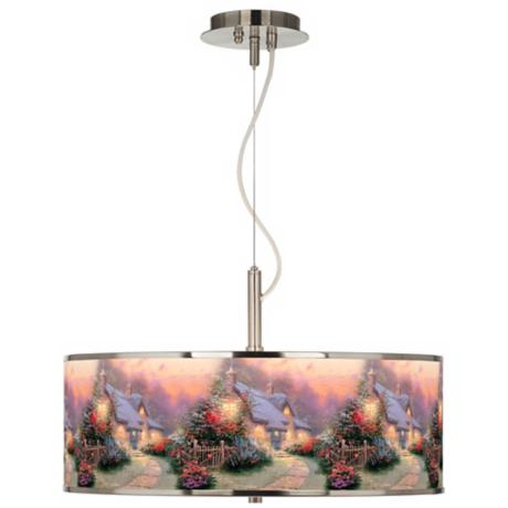 "Thomas Kinkade Glory of Evening 20"" Wide Pendant Light"