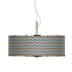 "Zig Zag Giclee Glow 20"" Wide Pendant Light"
