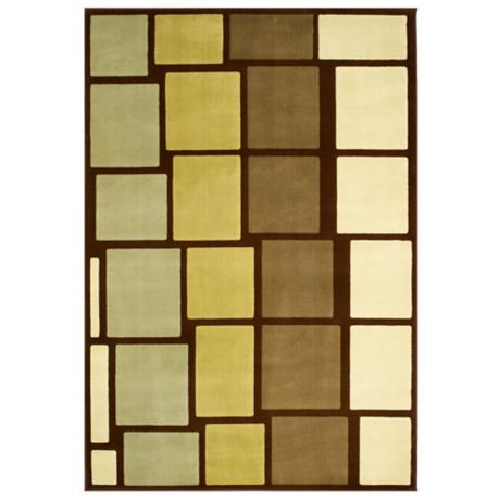 Tremont Collection Stax Chocolate Area Rug