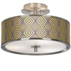 "Deco Revival Giclee Glow 14"" Wide Ceiling Light"