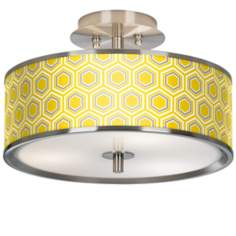 "Honeycomb Giclee Glow 14"" Wide Ceiling Light"