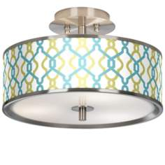 "Hyper Links Giclee Glow 14"" Wide Ceiling Light"
