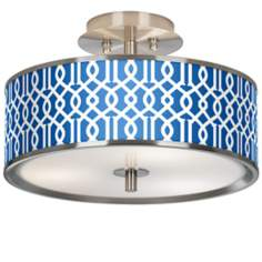 "Chain Reaction Giclee Glow 14"" Wide Ceiling Light"