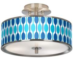 "Jet Set Giclee Glow 14"" Wide Ceiling Light"