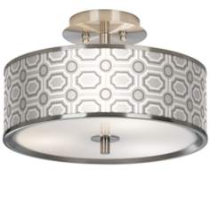 "Luxe Tile Giclee Glow 14"" Wide Ceiling Light"