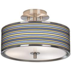 "Charleston Stripes Giclee Glow 14"" Wide Ceiling Light"