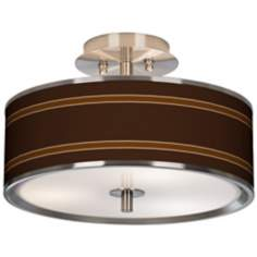 "Saratoga Stripe Giclee Glow 14"" Wide Ceiling Light"