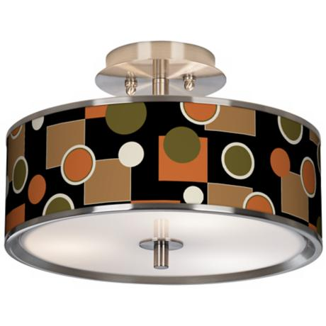 "Retro Medley Giclee Glow 14"" Wide Ceiling Light"