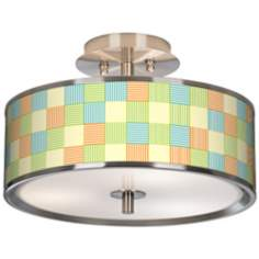 "Pixel Light Giclee Glow 14"" Wide Ceiling Light"