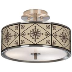"Chambly Giclee Glow 14"" Wide Ceiling Light"